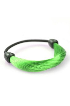 Synthetic Fiber Hair Rope Holder (Green)