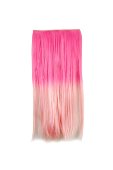 Synthetic Fiber Straight Hair Extension (Pink)