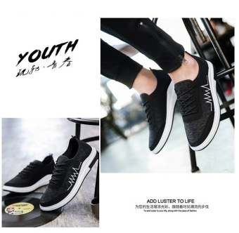 TA Korean version of the new old Beijing casual shoes, sports shoes Metrosexual(Black) - intl - 4