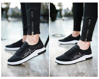 TA Korean version of the new old Beijing casual shoes, sports shoes Metrosexual(Black) - intl - 3