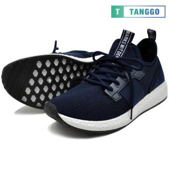 Tanggo 1979 Korean Fashion Sneakers Breathable Canvas Shoes for Men (navy blue) - 4