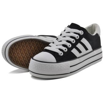 Tanggo 3092 Fashion Sneakers Women's Rubber Shoes (black) - 3