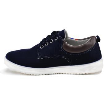 Tanggo 813 Fashion Sneakers Men's Casual Rubber Shoes (Black) - 3