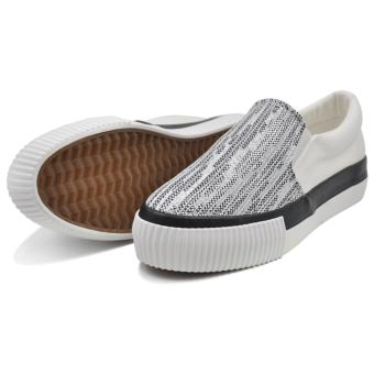 Tanggo Carlyne Fashion Sneakers Slip-On Wome's Rubber Shoes (white) - 3