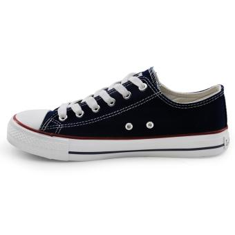 Tanggo Drew Fashion Sneakers Men's Casual Rubber Shoes (navy blue) - 2