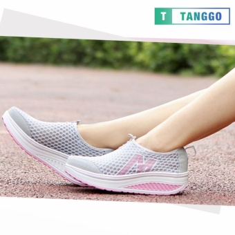 Tanggo Fashion Mesh Sneakers Shoes for Women 3308 (Light Grey) - 2