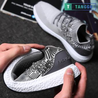 Tanggo Fashion Sneakers Korean Canvas Shoes for Men 923 (white/grey) - 5