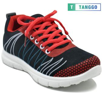 Tanggo Fashion Sneakers Rubber Shoes for Women - ZF788-49(black/red)