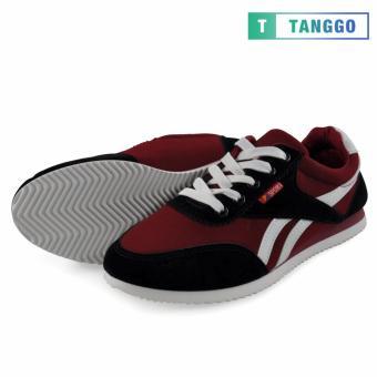 Tanggo Fashion Sport Sneakers Shoes for Men 801 (Maroon) - 2