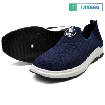 Tanggo Fashion Woven Fabric Shoes Men's Slip-On 107 (navy blue)