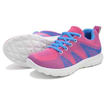 Tanggo Gabi Fashion Sneakers Women's Rubber Shoes ( lightblue/pink) - 3