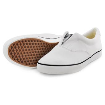 Tanggo Miko Fashion Sneakers Men's Flat Shoes Slip-On (white) - 3