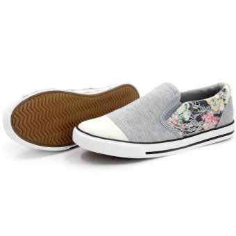 Tanggo Slip-On High Quality Sneakers Women's Casual Rubber Shoes T521 (Grey) - picture 2