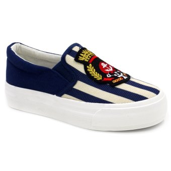 Tanggo Slip-On High Quality Sneakers Women's Casual Rubber Shoes0622 (Navy Blue)