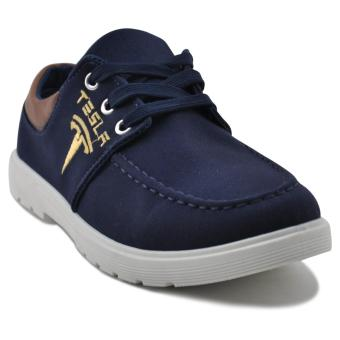 Tanggo Tesla Fashion Sneakers Men's Casual Rubber Shoes (navy blue)
