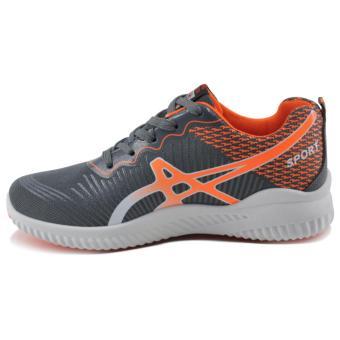 Tanggo William Fashion Sneakers Men's Rubber Shoes (grey/orange) - 2