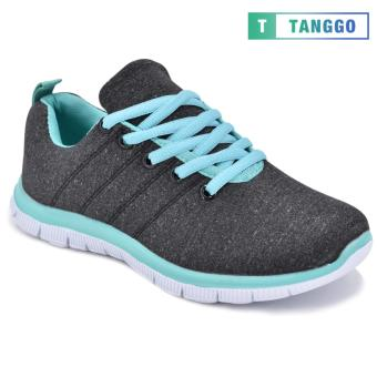 Tanggo Women's Sneakers Rubber Shoes 59-2 with Free 1 Precious Herbal Way Foot Powder 50g (black) - 3