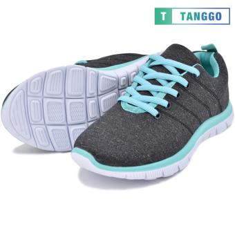 Tanggo Women's Sneakers Rubber Shoes 59-2 with Free 1 Precious Herbal Way Foot Powder 50g (black) - 5