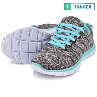 Tanggo Women's Sneakers Rubber Shoes 59-2 with Free 1 Precious Herbal Way Foot Powder 50g (grey) - 5