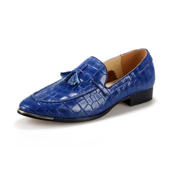 Tassel Slip-Ons Flat Shoes - Blue - picture 2