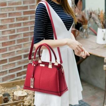 TB Fashion Handbag Shoulder Bag Messenger Large Tote Leather Pursefor Women Red - intl - 2