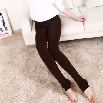 Teamwin New Women's Solid Winter Thick Warm Fleece Lined ThermalStretchy Leggings Pants - intl