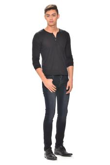 Tex-Cock Long Sleeves Camisa de Chino (Black) - 4
