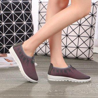 TF Women's sports leisure walking shoes old Beijing cloth shoes(Grey) - intl - 3