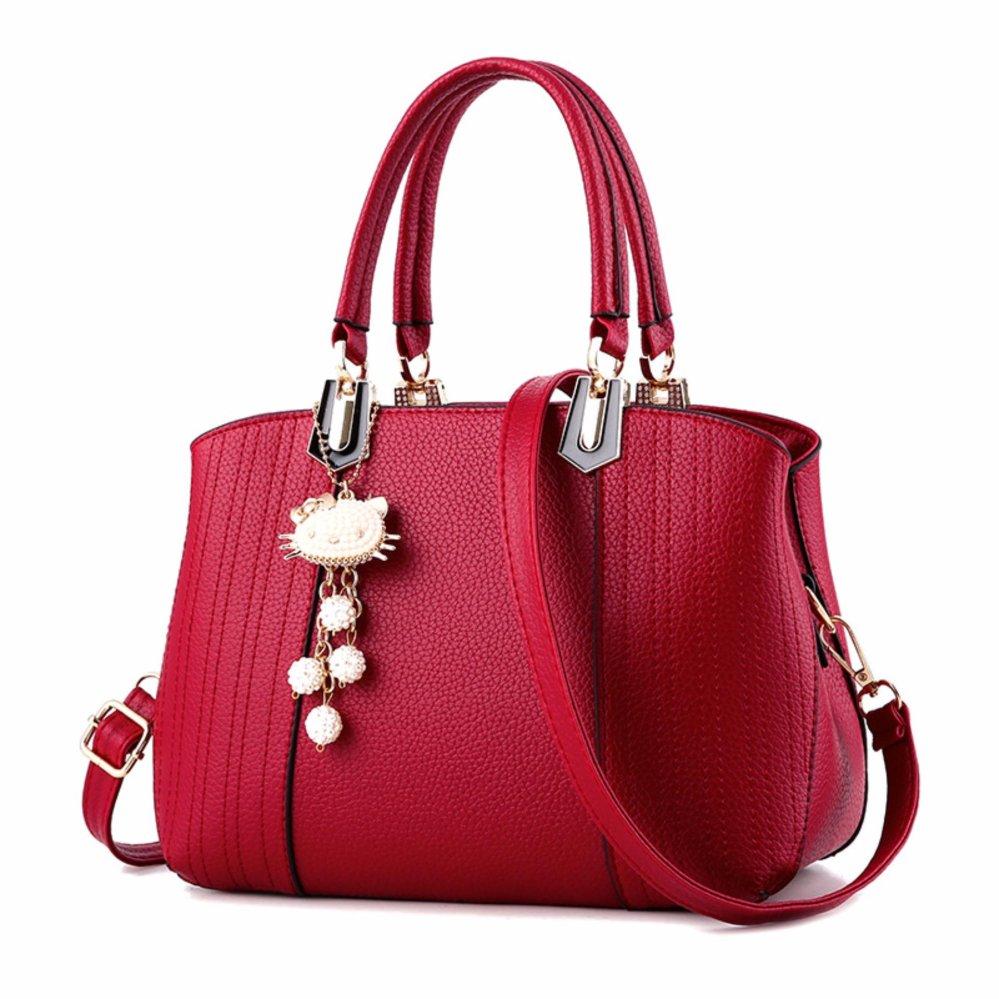 The American fashion new cat pendant handbag(red) | Lazada PH
