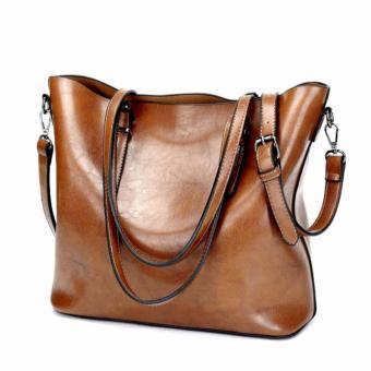 The Large Capacity Shoulder Bag Lady Fashion Canvas Shoulder Bag (Black) - intl - 2