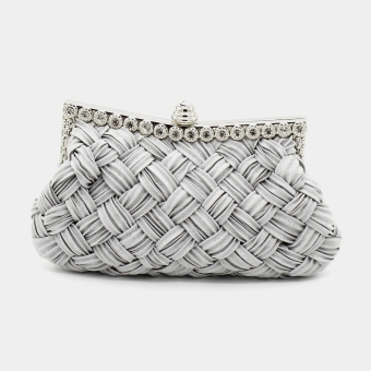 The Rhinestone Studded Wedding Evening Bridal Bridesmaid ClutchPurse - 2