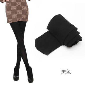 Through the meat Silk socks Spring and Autumn leggings (Black)