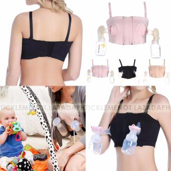 Tickle-Mommy Simple Wishes Hands Free Breastpump Bra--Medium(Black) - 3