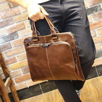 Tidog Crazy Horse men bag Shoulder Bag Handbag Bag business bag - Intl
