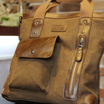 Tidog Korean Metrosexual briefcase bag business Bag Satchel Shoulder diagonal canvas bag - intl - 2