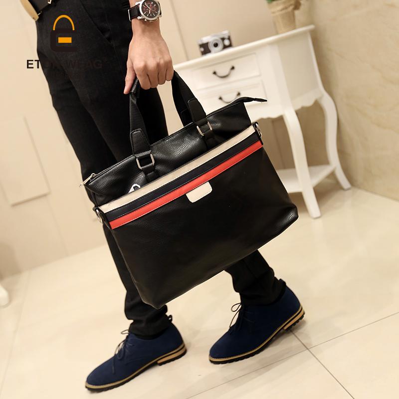 3c02074138bc ... Tidog The new Korean male fashion business casual Bag Messenger Bag  Shoulder Bag Handbag tote bag ...