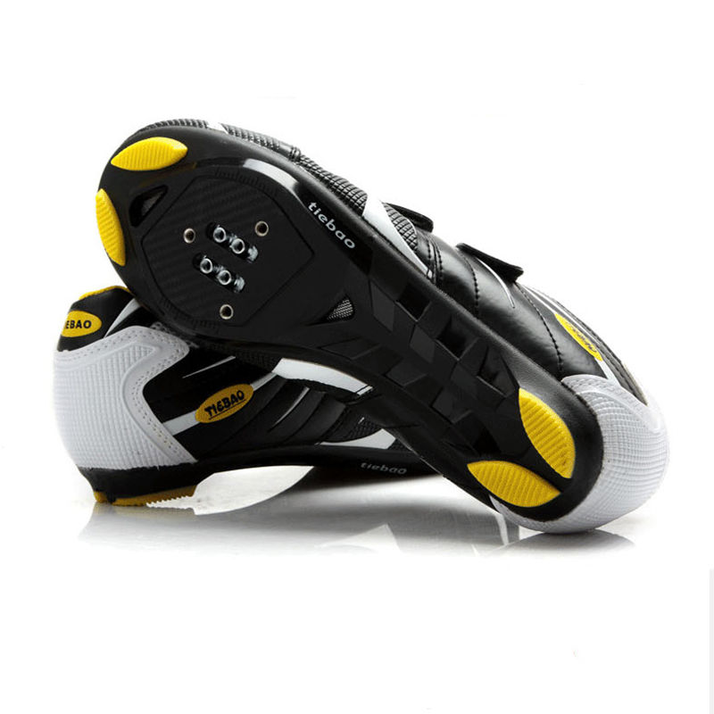 ... Tiebao Cycling Shoes Road Bike Bicycle Shoes For Look SPD-SL SystemBlack White ...