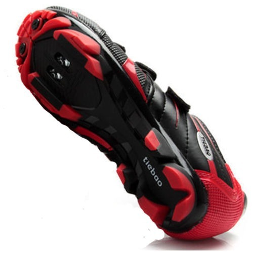 Tiebao MTB Cycling Shoes For Shimano SPD System Bike Bicycle ShoesBlack Red ...