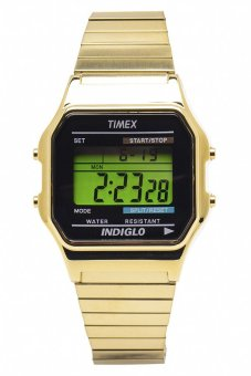 Timex Men's Gold Stainless Steel Strap Watch T78677
