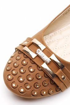 TNL Alyssa Ballet Shoes (Brown)