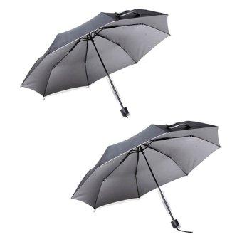 Tokio Windproof Folding Umbrella Set of 2 (Black)