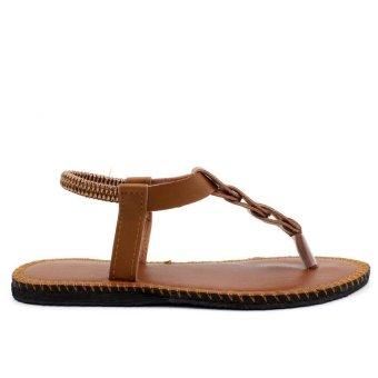 Tokkyo Shoes Women's Ember Flat Sandals (Brown) - 4