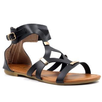 Tokkyo Shoes Women's Hazel D-11 Flat Gladiator Sandals (Black) - 2