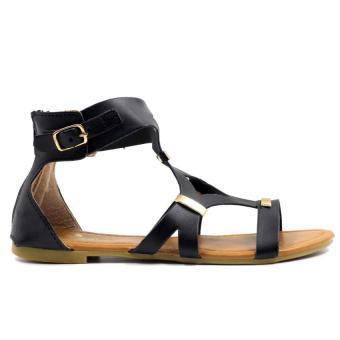 Tokkyo Shoes Women's Hazel D-11 Flat Gladiator Sandals (Black) - 4