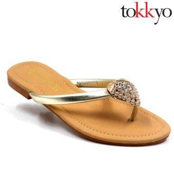 Tokkyo Shoes Women's Hermione Flat Sandals (Silver) - 2