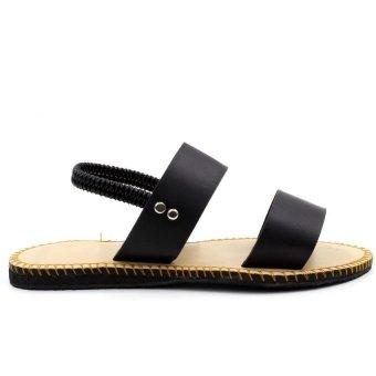 Tokkyo Shoes Women's Lucky Flat Sandals (Black) - 5