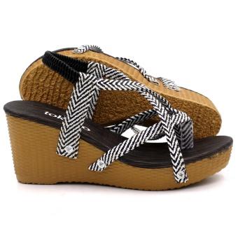 Tokkyo Women's Bora Wedge Sandals (Black) - 3