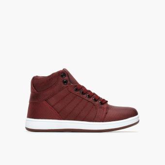 Tough Kids Boys TK Resty 464066 Hi-cut Sneakers (Maroon)