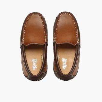 Tough Kids Girls Gany Loafers (Brown) - 5