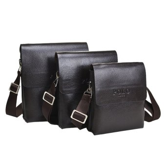 TP 2016 Mens Bag On His Shoulder Pu Leather Mens CrossbodyMessengerbags Quality Hand Bags For Man Black Brown Travel HandbagVp16 - intl - 3